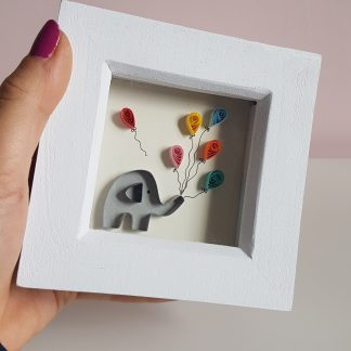 Paper quilling mini elephant new baby picture