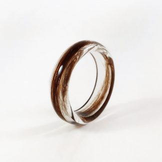 Resin Lock of Hair Ring