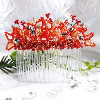 red and gold radiance hair comb