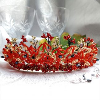 red and gold radiance tiara