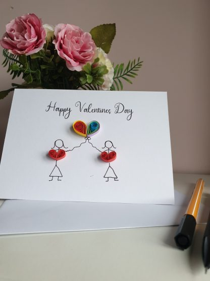 LGBT Valentines day card, LGBT couple