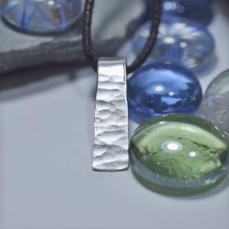 handcrafted silver pendant