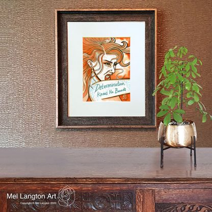 Framed Determination Has No Bounds Limited Edition Giclee Print by Mel Langton Art
