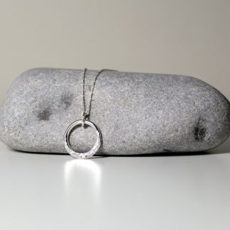 Minimalist Sterling Silver Circle Necklace