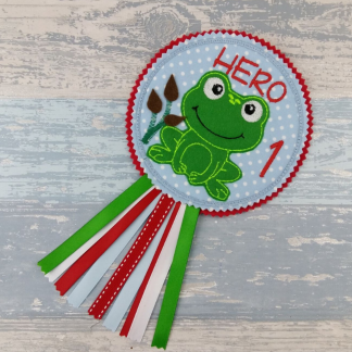 Frog Birthday Badge Rosette - Personalised Party