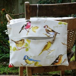 Fabric hanging peg bag