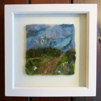 A Country Walk Needle Felt Painting by Louise Hancox Textile Artist