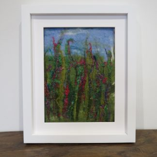 Shows 'Summer Spires' Handmade Wet Felt Painting