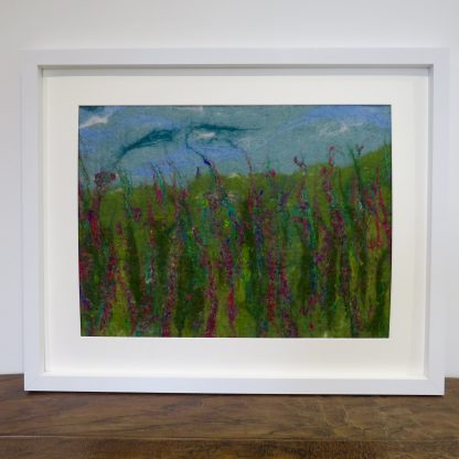 Shows Summer Meadow Wet Felt Painting