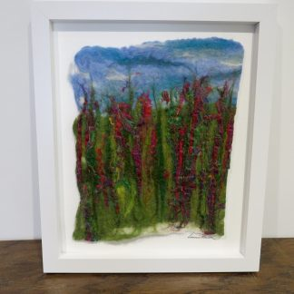 'Summer Haze' Handmade Wet Felt Painting