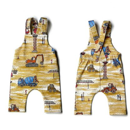 Front and back of baby dungaree
