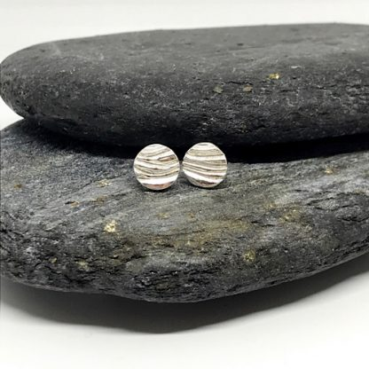 Silve ripple earrings