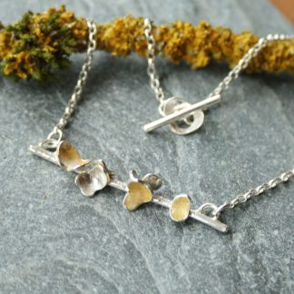 thistledown wishes Nature inspired silver necklace