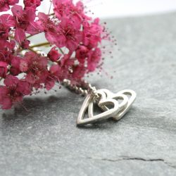 thistledown wishes sterling silver heart necklace