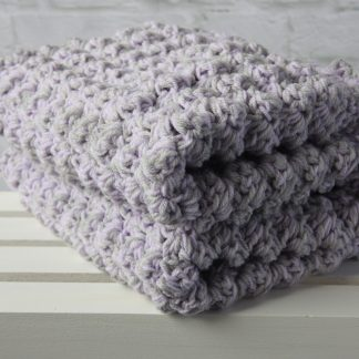 Grey and Lilac Crochet Baby Blanket