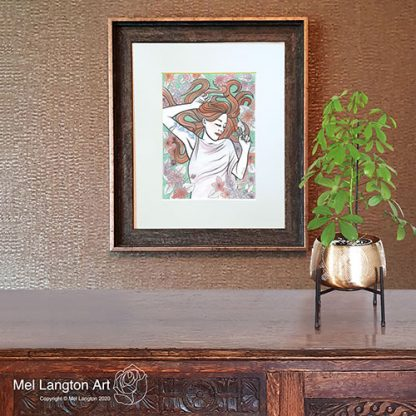 Framed Lucy Limited Edition Giclee Print by Mel Langton Art
