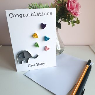 Paper quilling new baby card