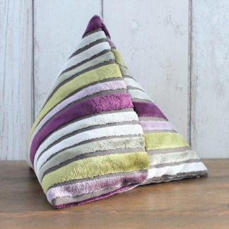 Purple and Lime Fabric Doorstop