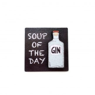 3D wooden gin lover gift fridge magnet soup of the day