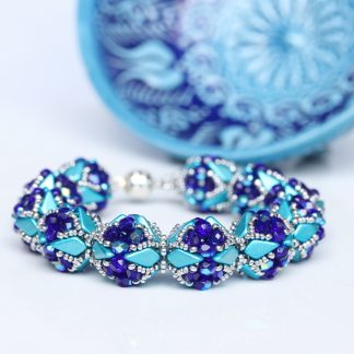 Statement Bracelet in Blue and Turquoise Image