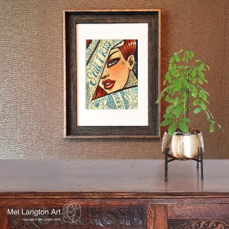 Still I Rise Tattooed Lady Mel Langton Art Framed