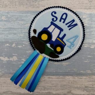 Tractor Birthday Badge - Personalised Gift