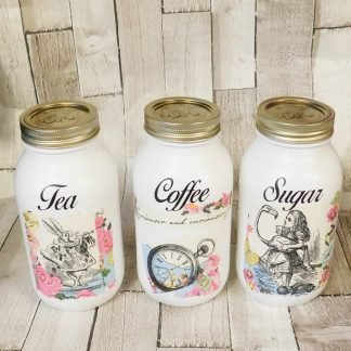 Alice In Wonderland Kitchen Canisters