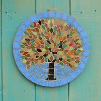 Season tree design handmade mosaic garden hanging plaque