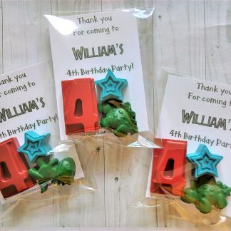 personalised birthday wax crayon number favours