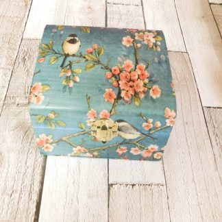 Bird Cherry Blossom Jewellery Box