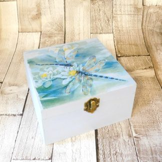Blue Dragonfly Jewellery Box