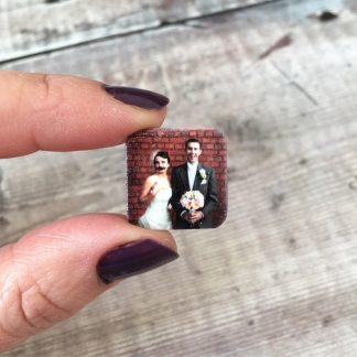 Wedding anniversary personalised photo cuff links gift