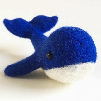 needle felted whale sculpture