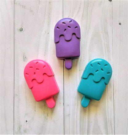 ice lolly popsicle shaped wax crayons