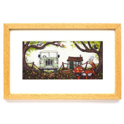 The Rover framed print
