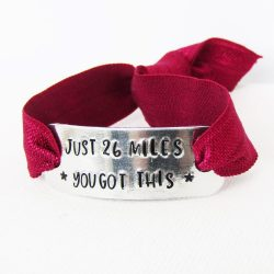 runners motivational stretch bracelet