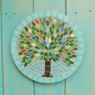 Season tree design handmade mosaic garden hanging decoration