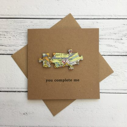 Crofts Crafts Valentine's Day card - you complete me