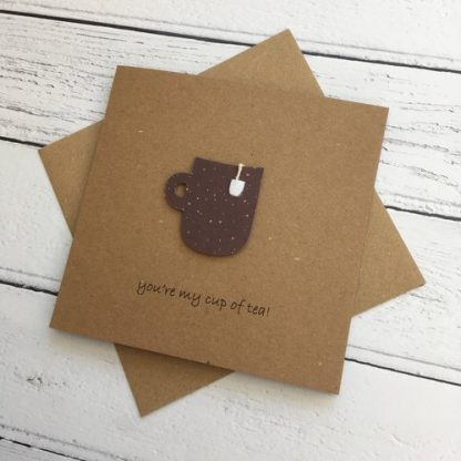 Crofts Crafts Valentines Card - you're my cup of tea