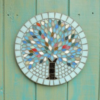 tree design handmade mosaic garden hanging plaque