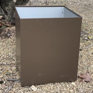 large metal garden planter
