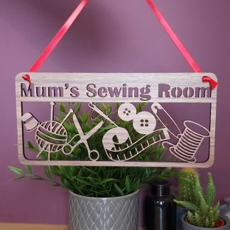 Sewing room plaque or Door Hanger