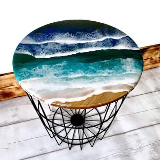 Ocean wave living room side table