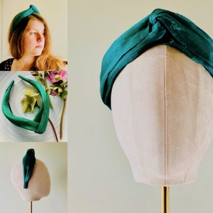 Silk abaca - ForEver Green - collage