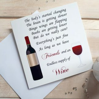 Friends & Wine Greeting Card