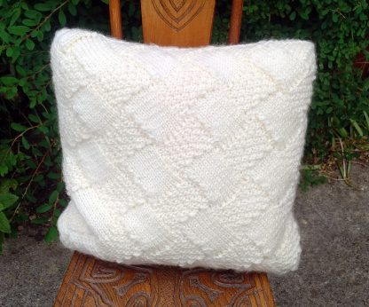 hand-knitted cushion cover