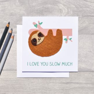 sloth mothers day card