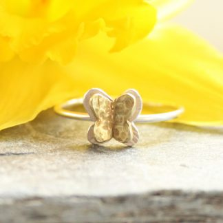 thistledown wishes silver butterfly ring