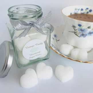 white sugar hearts