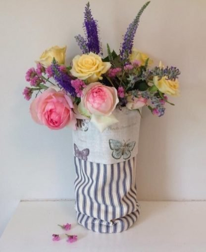 Butterfly Fabric Vase
